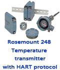 Rosemount 248 Temperature transmitter with HART protocol