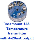 Rosemount 148 Temperature transmitter with 4-20mA output