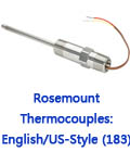 Rosemount Thermocouples: English/US-Style (183)