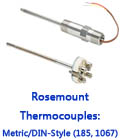 Rosemount Thermocouples: Metric/DIN-Style (185, 1067)